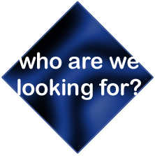 Who are we looking for